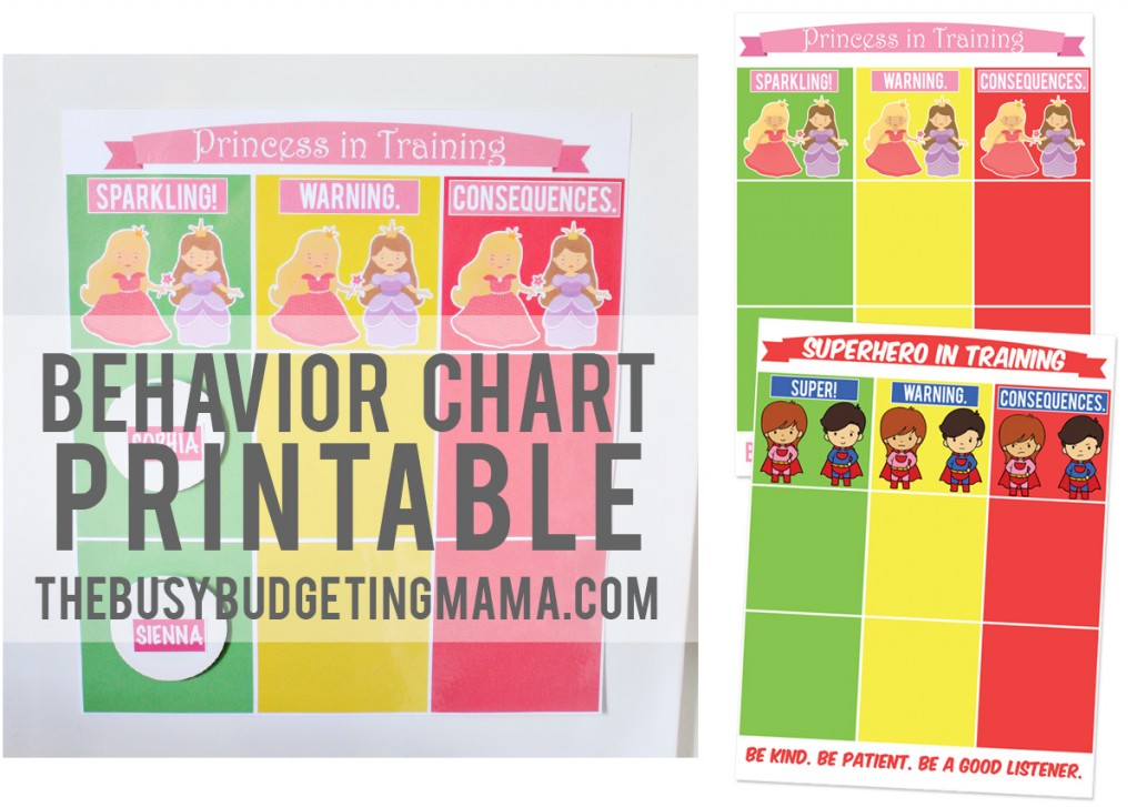 My Girls Behavior Chart Printable  At Home With Natalie