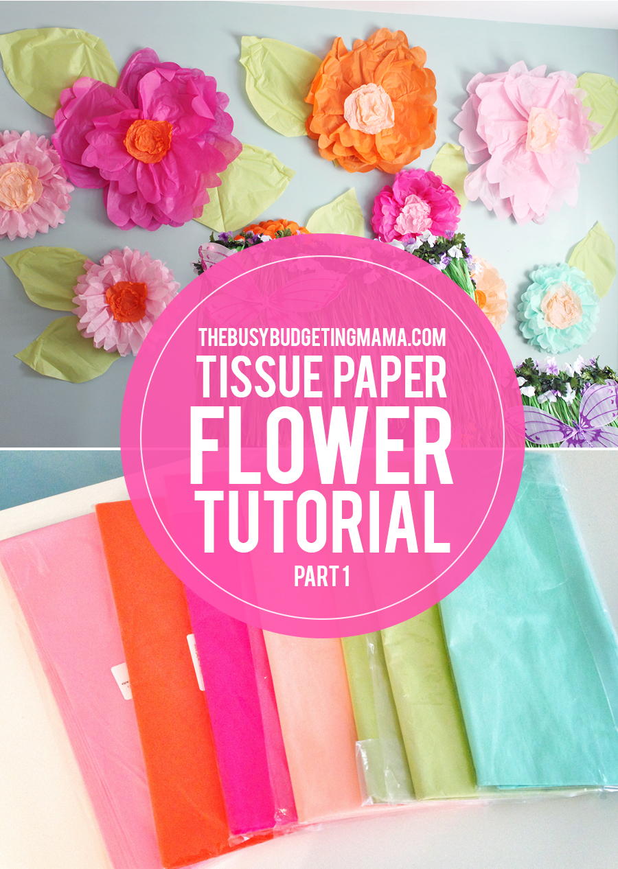 Giant tissue paper flower tutorial part 1 at home with natalie paper flowers thebbm mightylinksfo