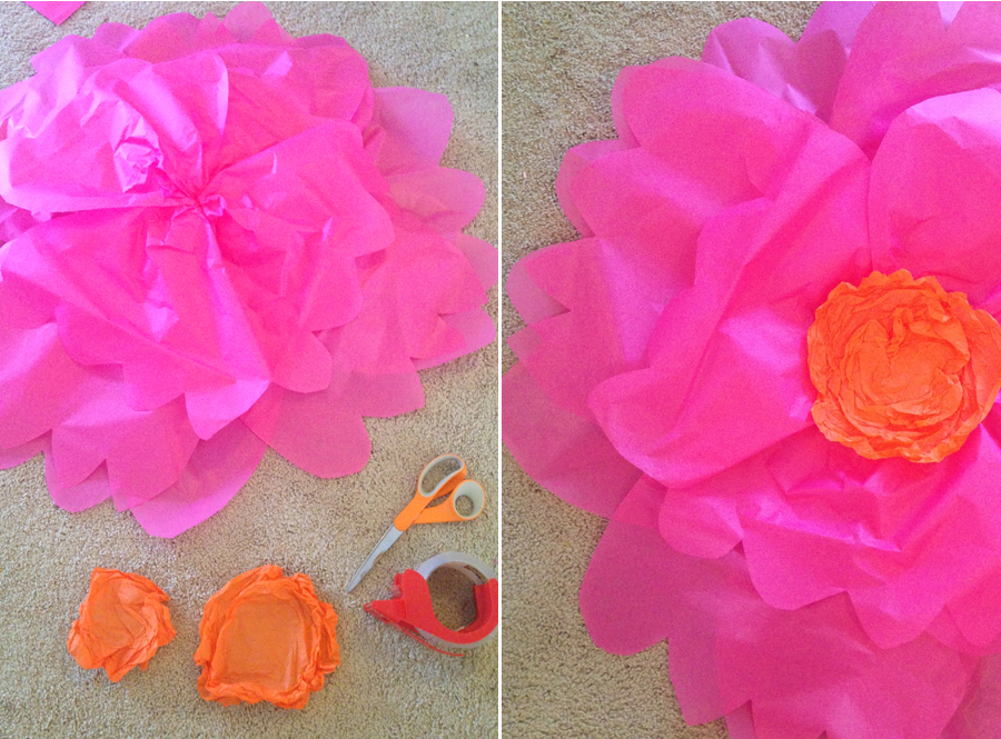 Giant tissue paper flower tutorial part 1 at home with natalie paper flowers thebbm2 mightylinksfo