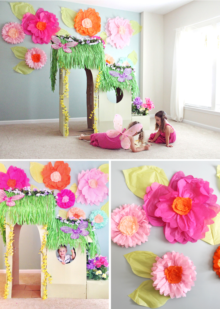 Tissue Paper Flowers At Home With Natalie