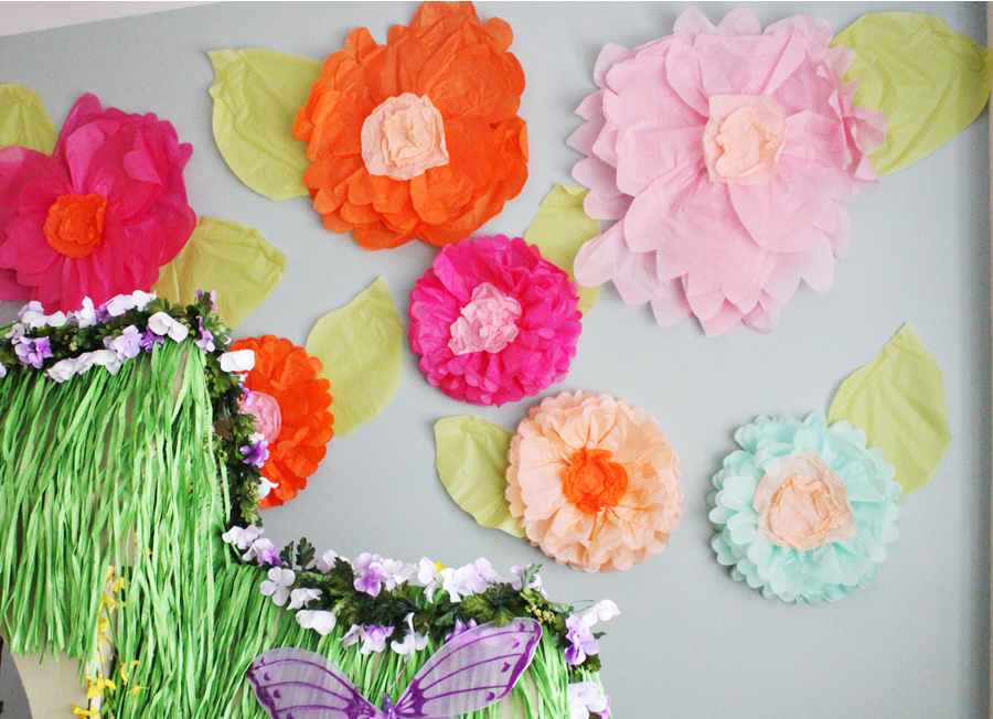 Giant tissue paper flower tutorial part 1 at home with natalie paper flowers thebbm4 mightylinksfo