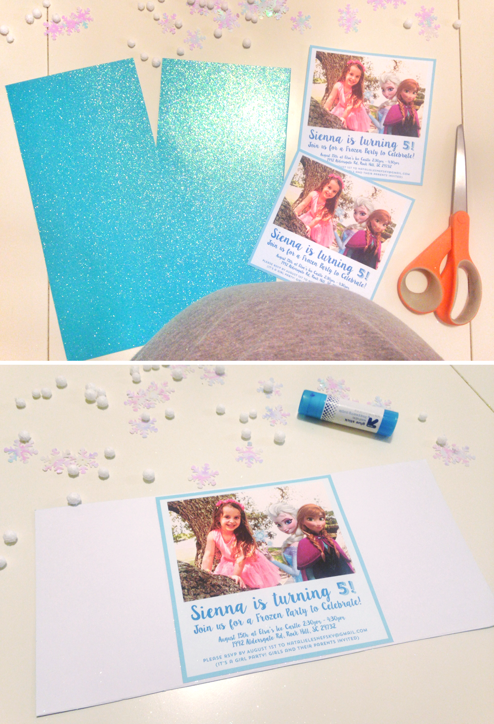 diy frozen party invitation tutorial free printable at home with