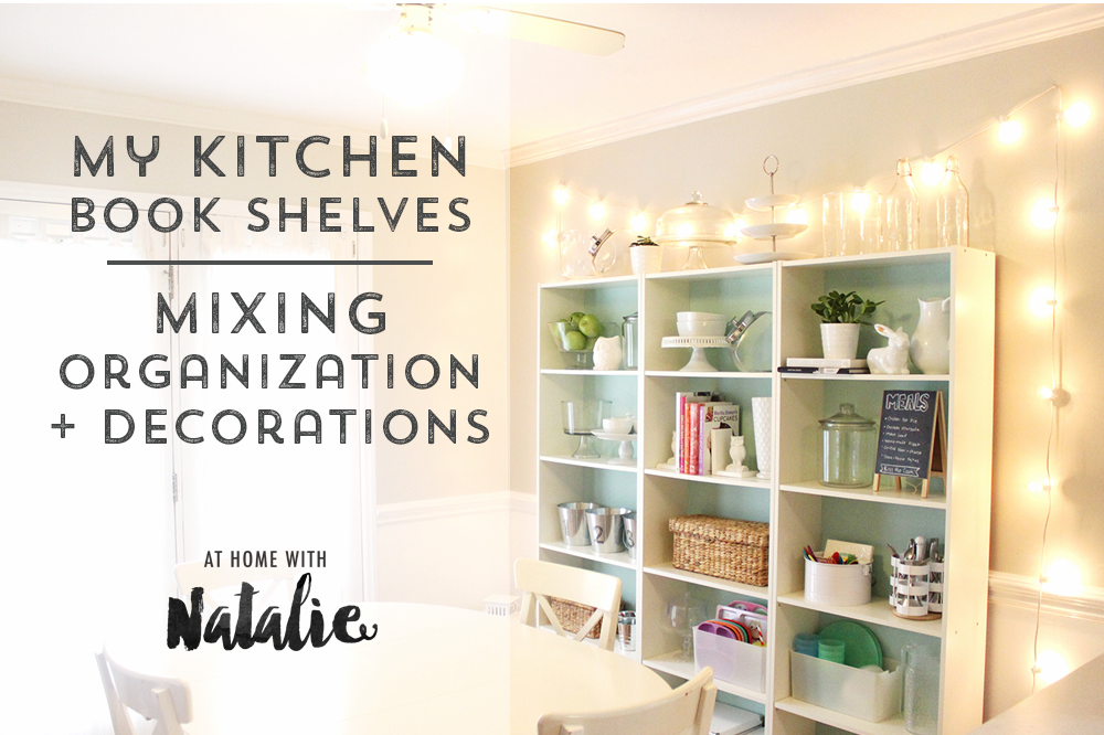 i love the sparkle it gives the kitchen especially at night when im crafting at the kitchen table - Kitchen Bookshelves