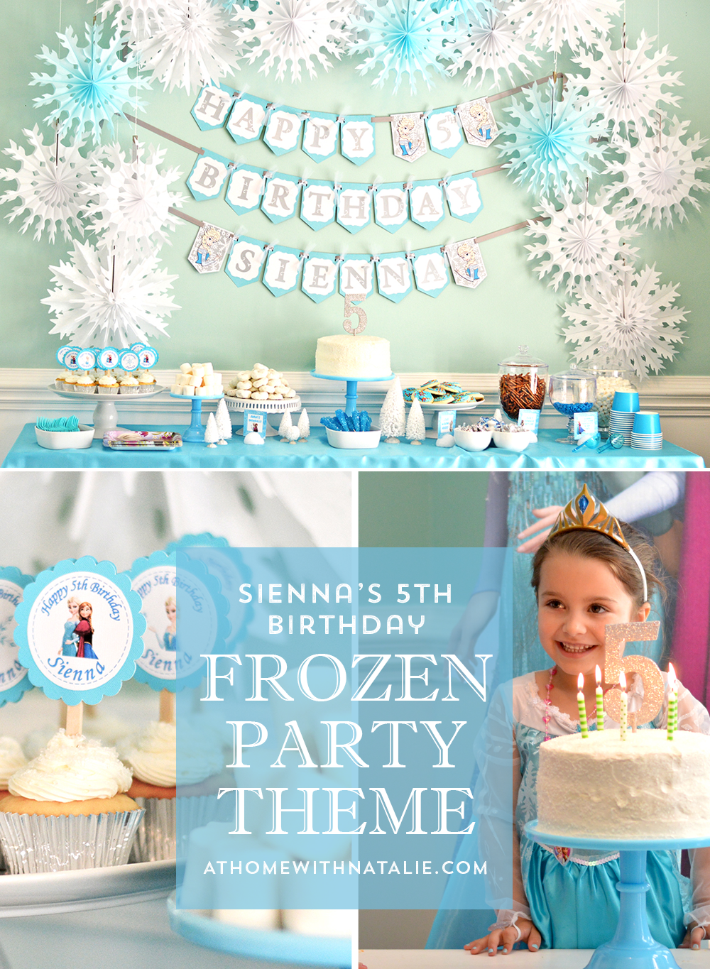 Siennas 5th Birthday A Frozen Party At Home With Natalie