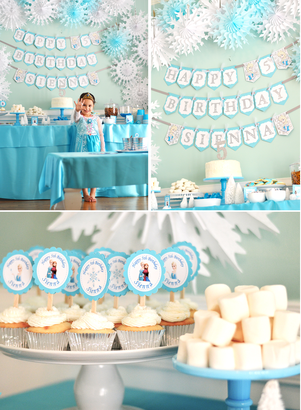 sienna s 5th birthday a frozen party at home with natalie. Black Bedroom Furniture Sets. Home Design Ideas