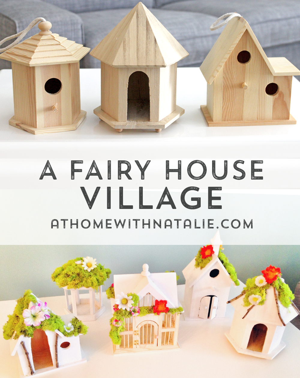 DIY Fairy House Village Tutorial At Home With Natalie