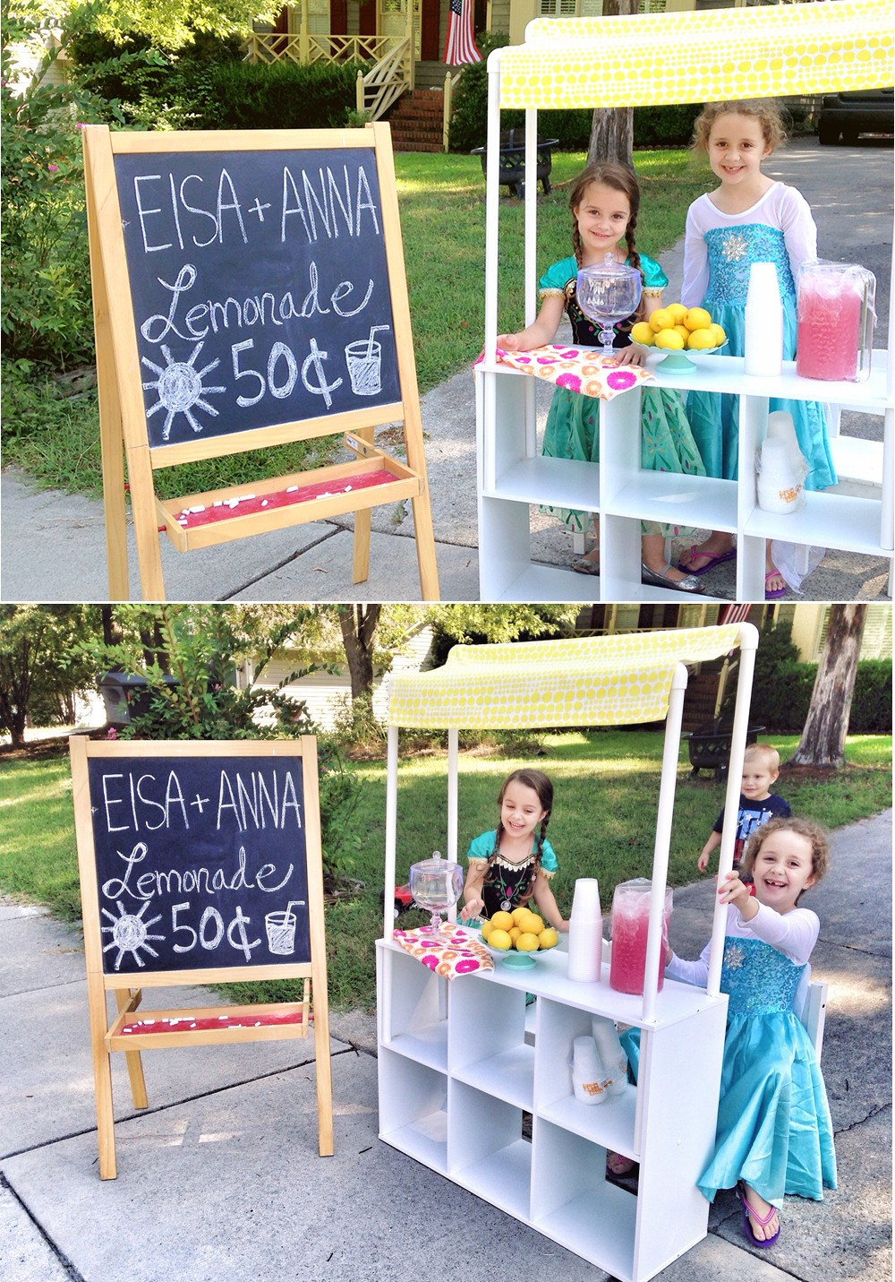 Elsa + Anna Lemonade Stand – At Home With Natalie