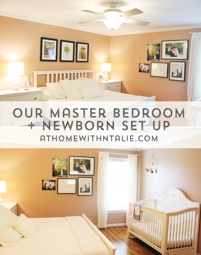 Master Bedroom + Nursery – At Home With Natalie on nursery sets and collections, crib in our bedroom, baby crib in bedroom, nursery in guest bedroom,