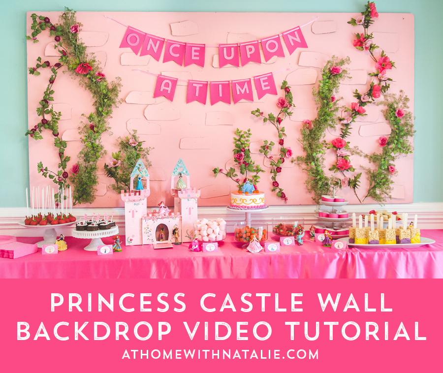 Castle Backdrop Tutorial AtHomeWithNatalie
