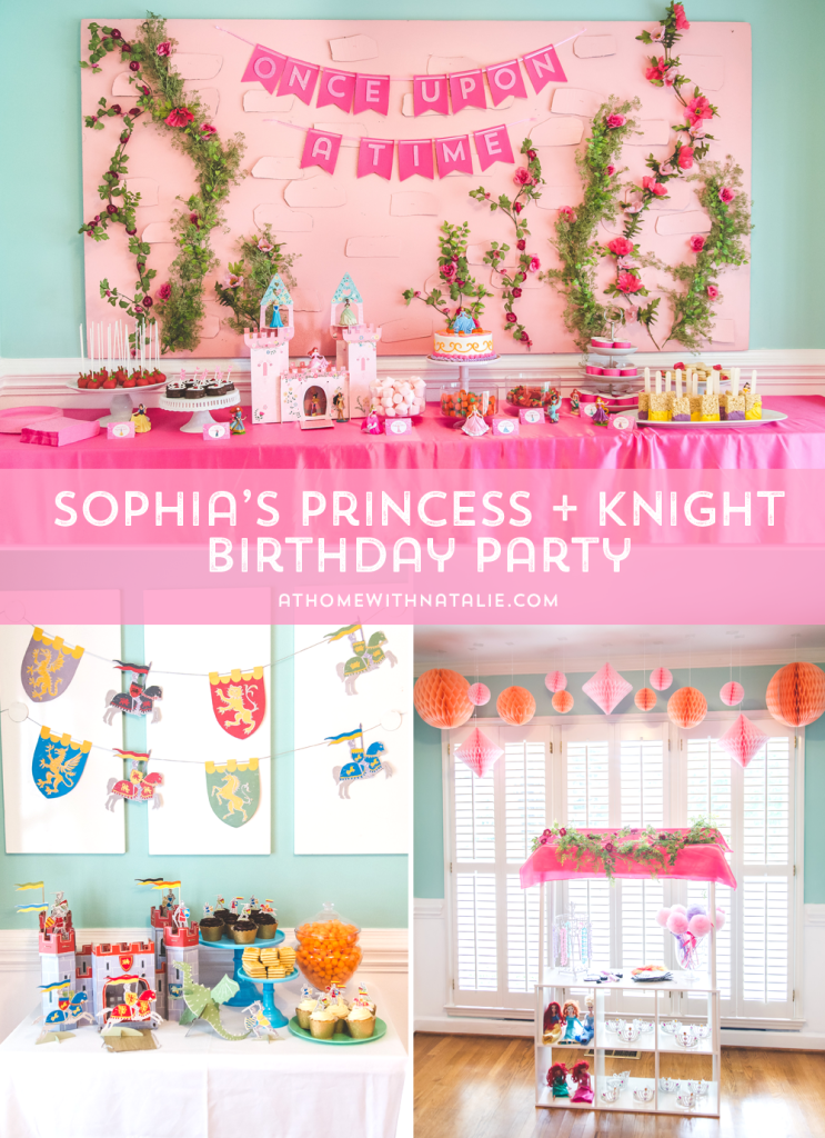 PRINCESS AND KNIGHTS PARTY-ATHOMEWITHNATALIE