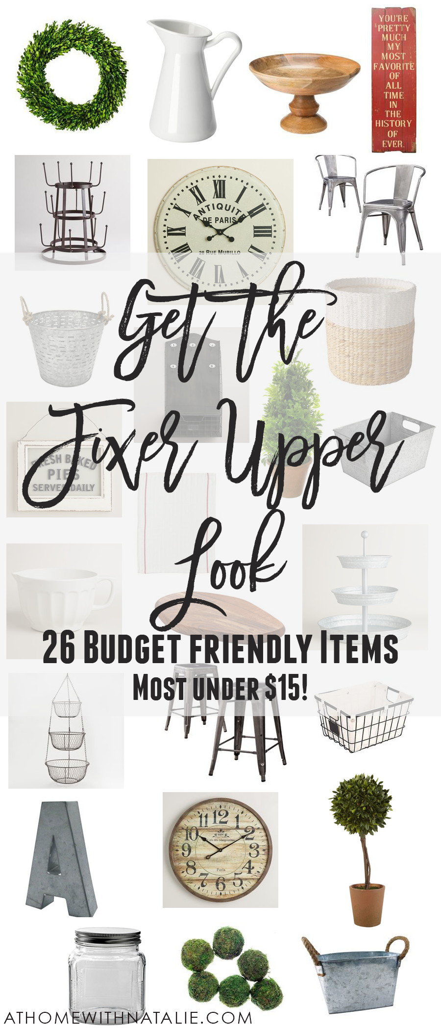 get the fixer upper look 26 budget friendly items at. Black Bedroom Furniture Sets. Home Design Ideas