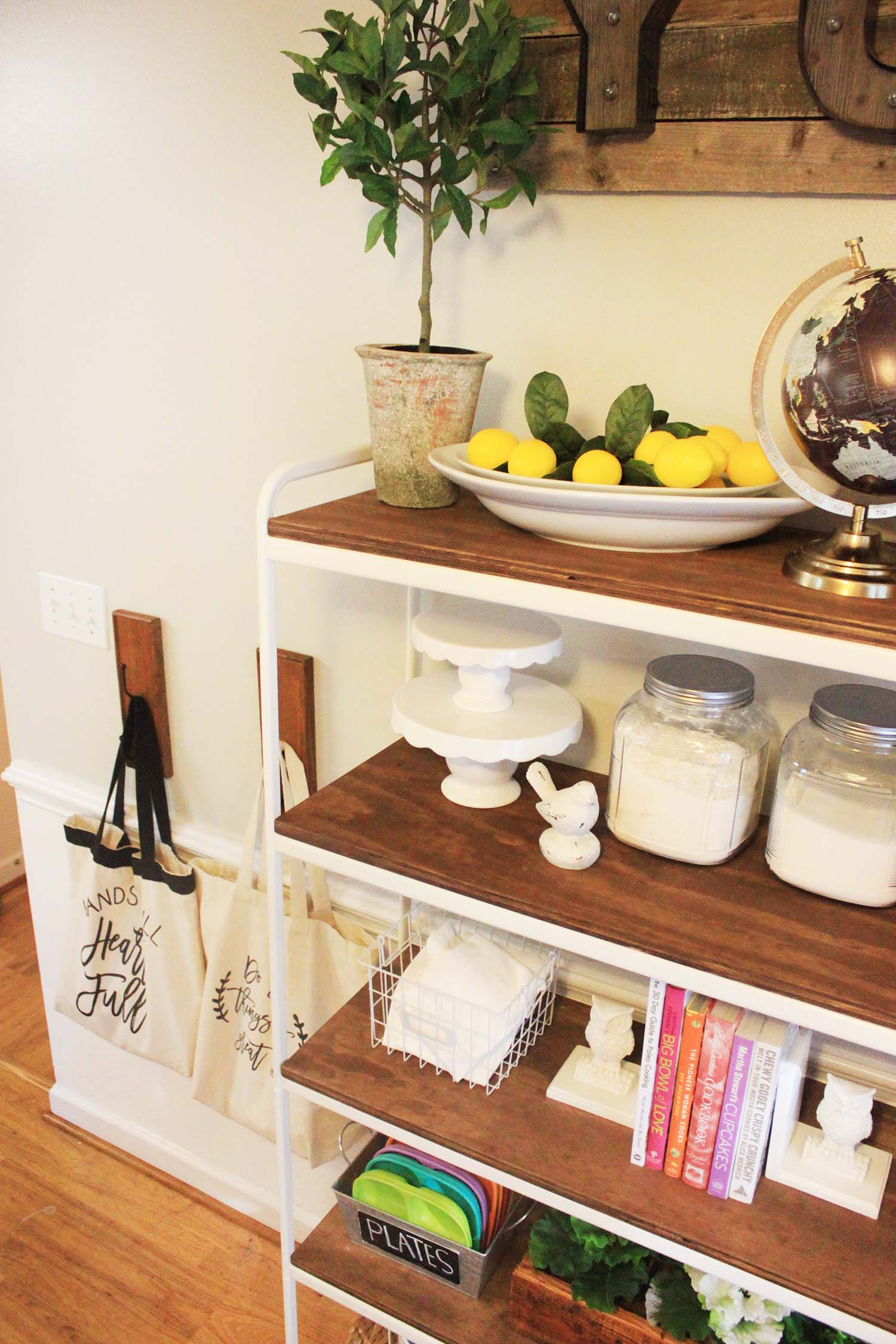 Diy Ikea Shelving Unit Farmhouse Makeover At Home With Natalie