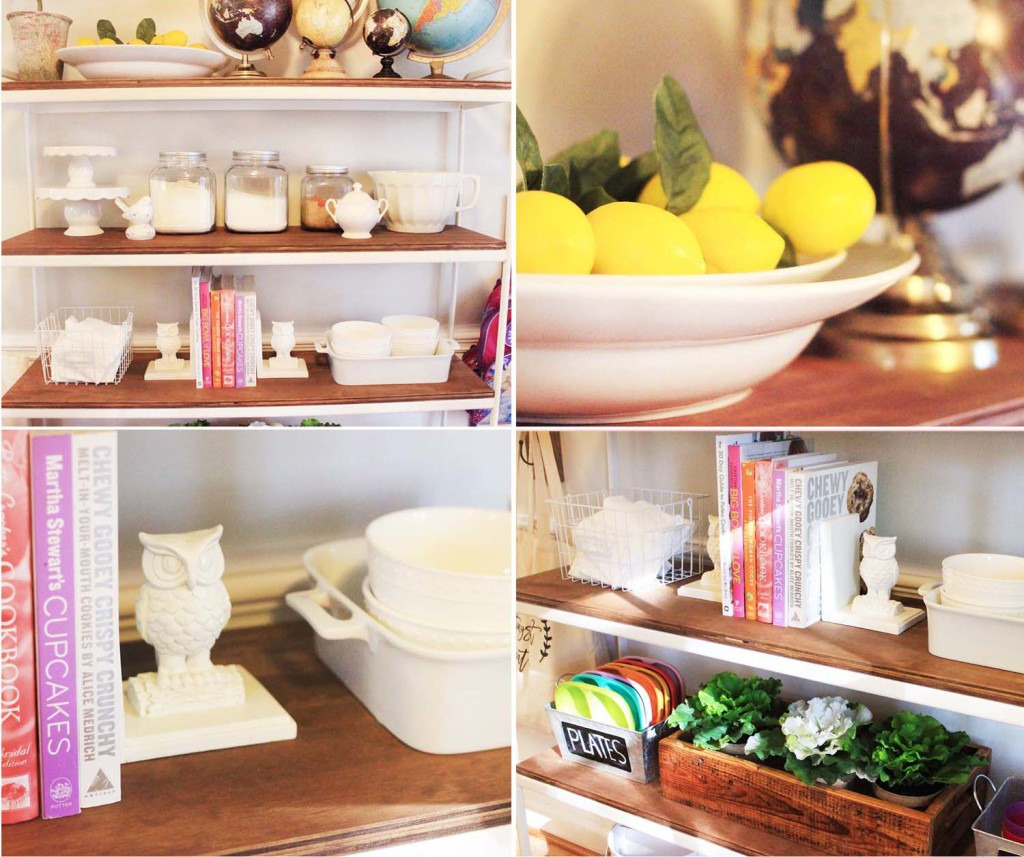 DIY IKEA Shelving Unit Farmhouse Makeover