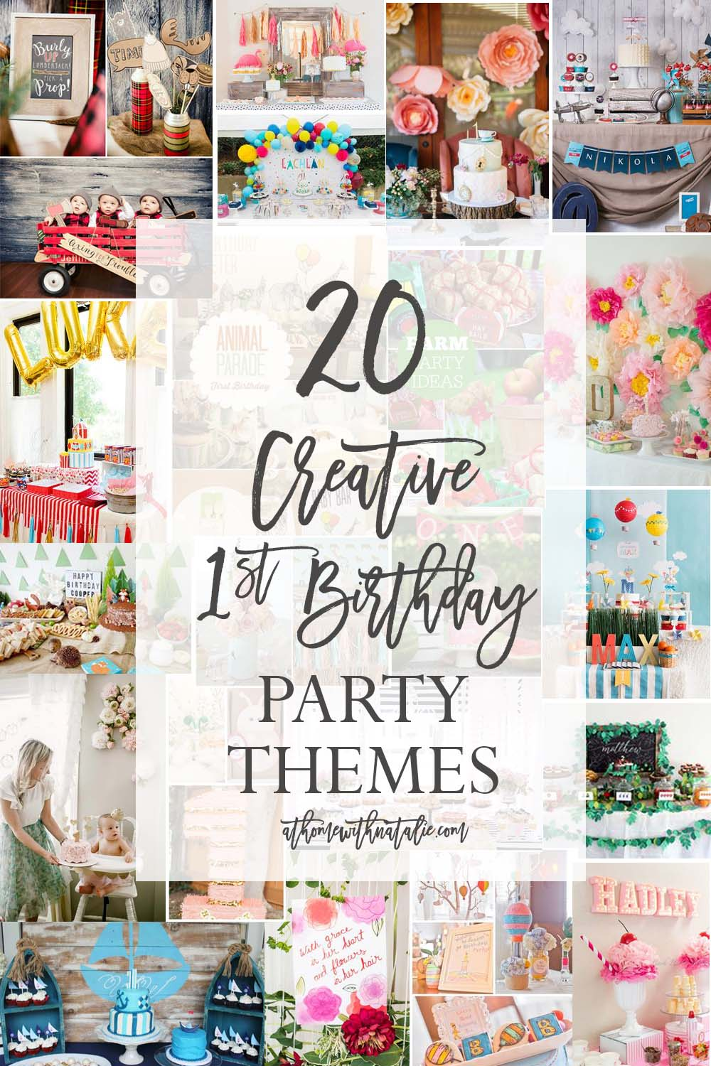 First Birthday Party Themes Athomewithnatalie1