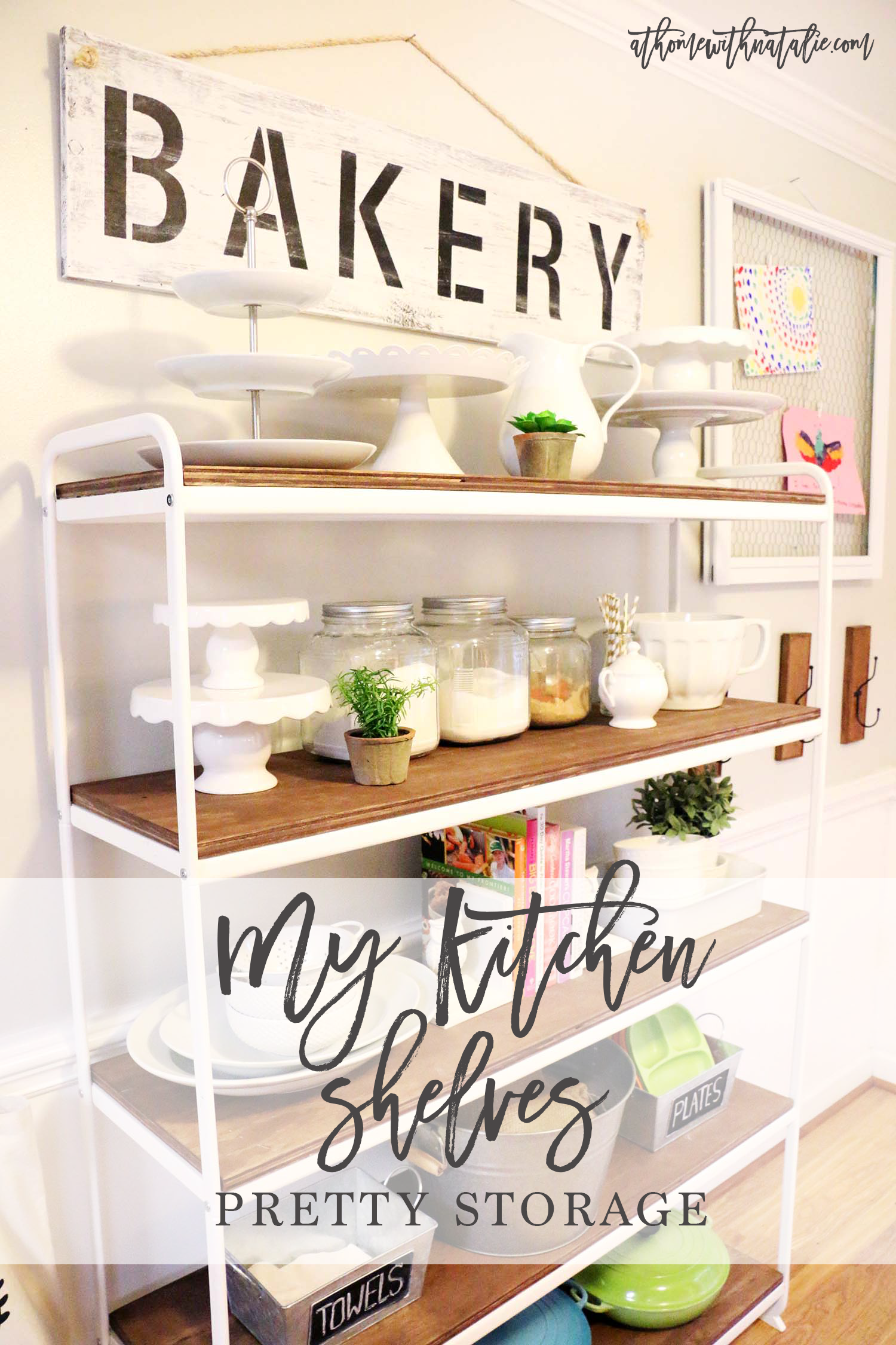My Kitchen Shelves Pretty Storage At Home With Natalie