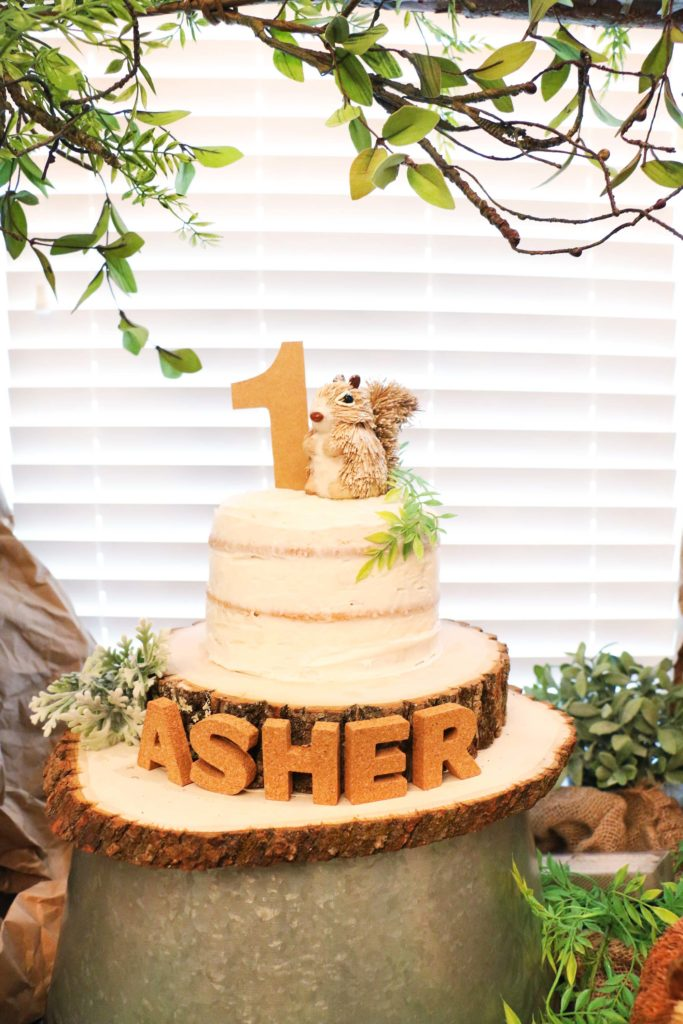 Asher S Woodland Themed First Birthday At Home With Natalie