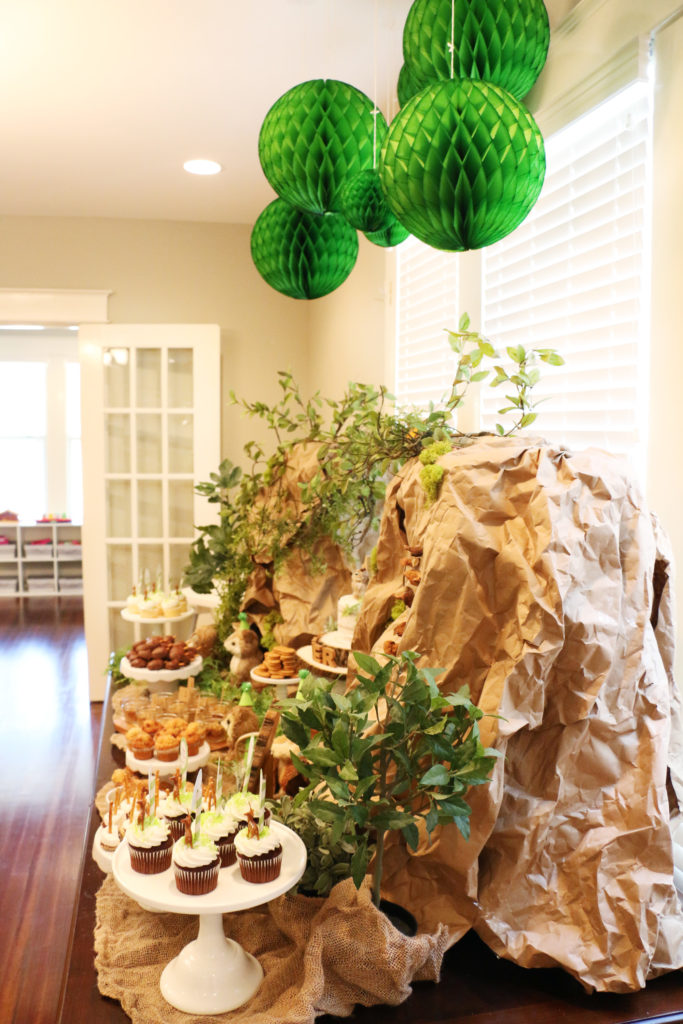 asher-woodland-themed-first-birthday-dessert-table