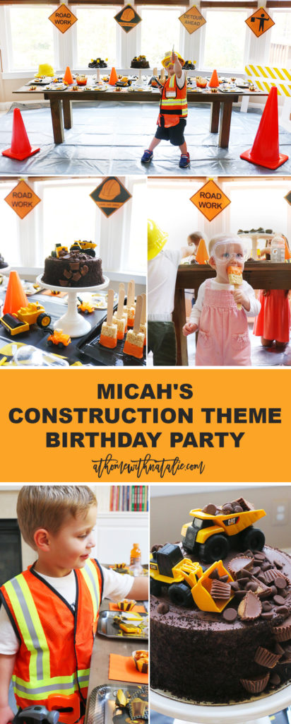 Micah Construction Theme Birthday Party