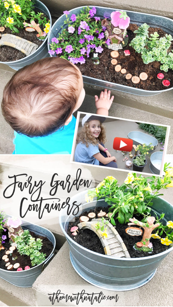 Fairy Garden Containers Video-AtHomeWithNatalie