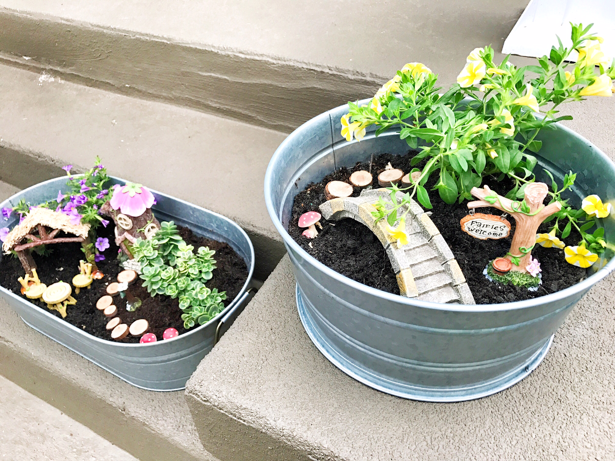 Fairy garden containers at home with natalie for How to make a fairy garden container