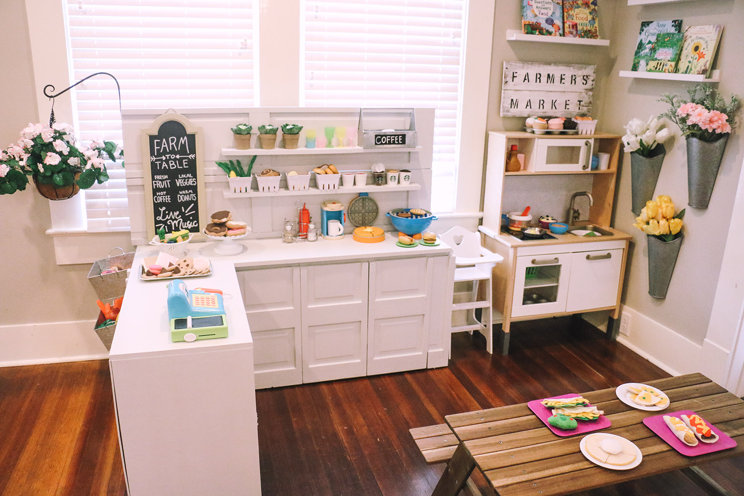 DIY Play Kitchen - Pretend Play Area - At Home With Natalie