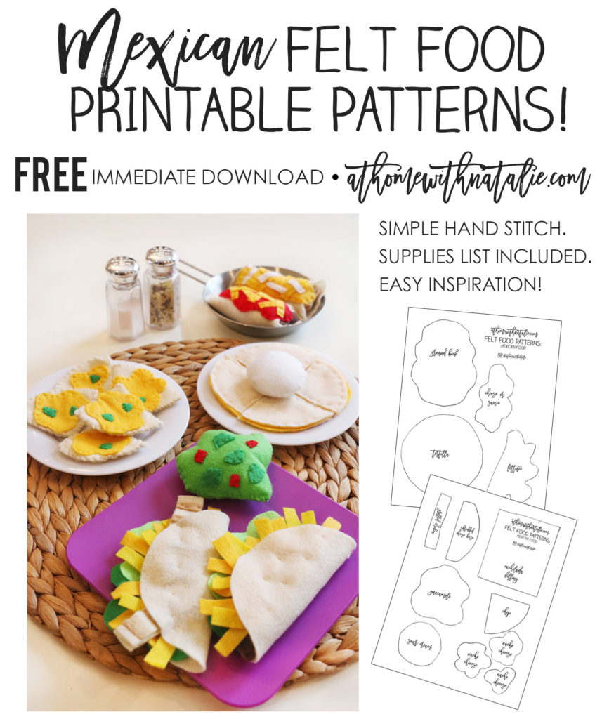 Mexican Felt Food Patterns PROMO-ATHOMEWITHNATALIE