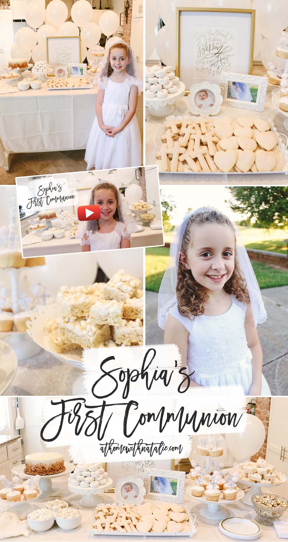 first communion party at home with natalie