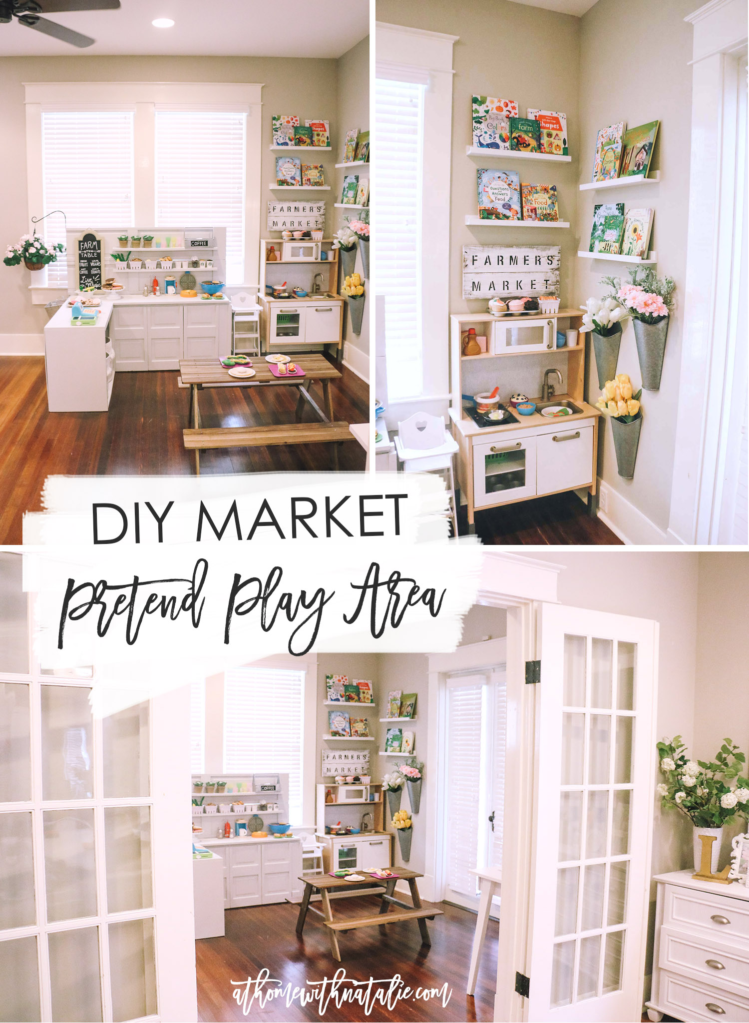 Diy play kitchen pretend play area at home with natalie bloglovin we are by no means professional carpenters weve only built from scratch a few times and learn something each time sharing this because you can do this solutioingenieria Image collections