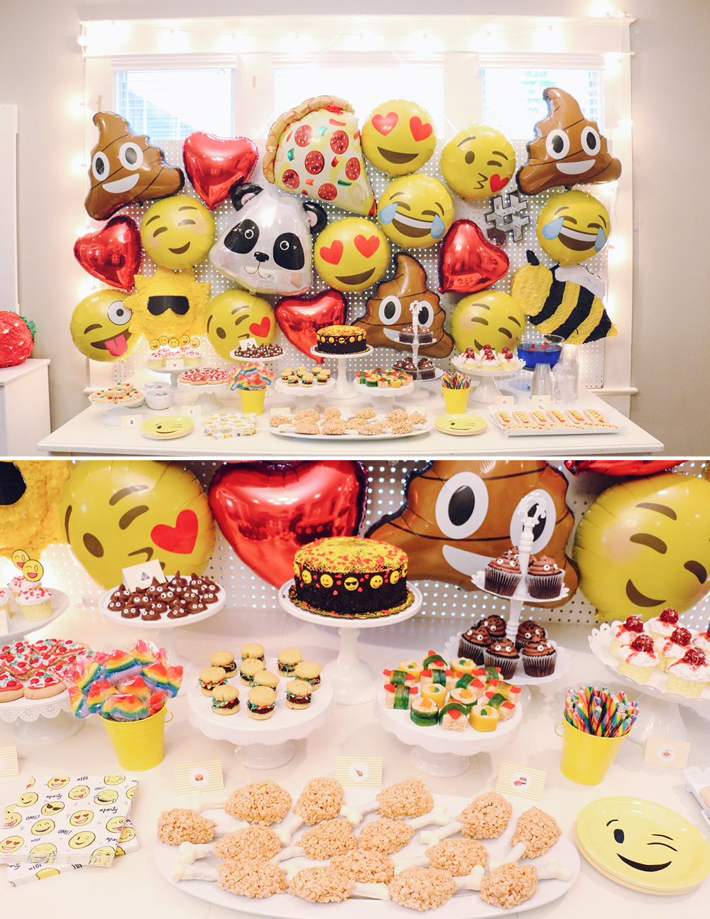 Emoji Birthday Party AtHomeWithNatalie 1