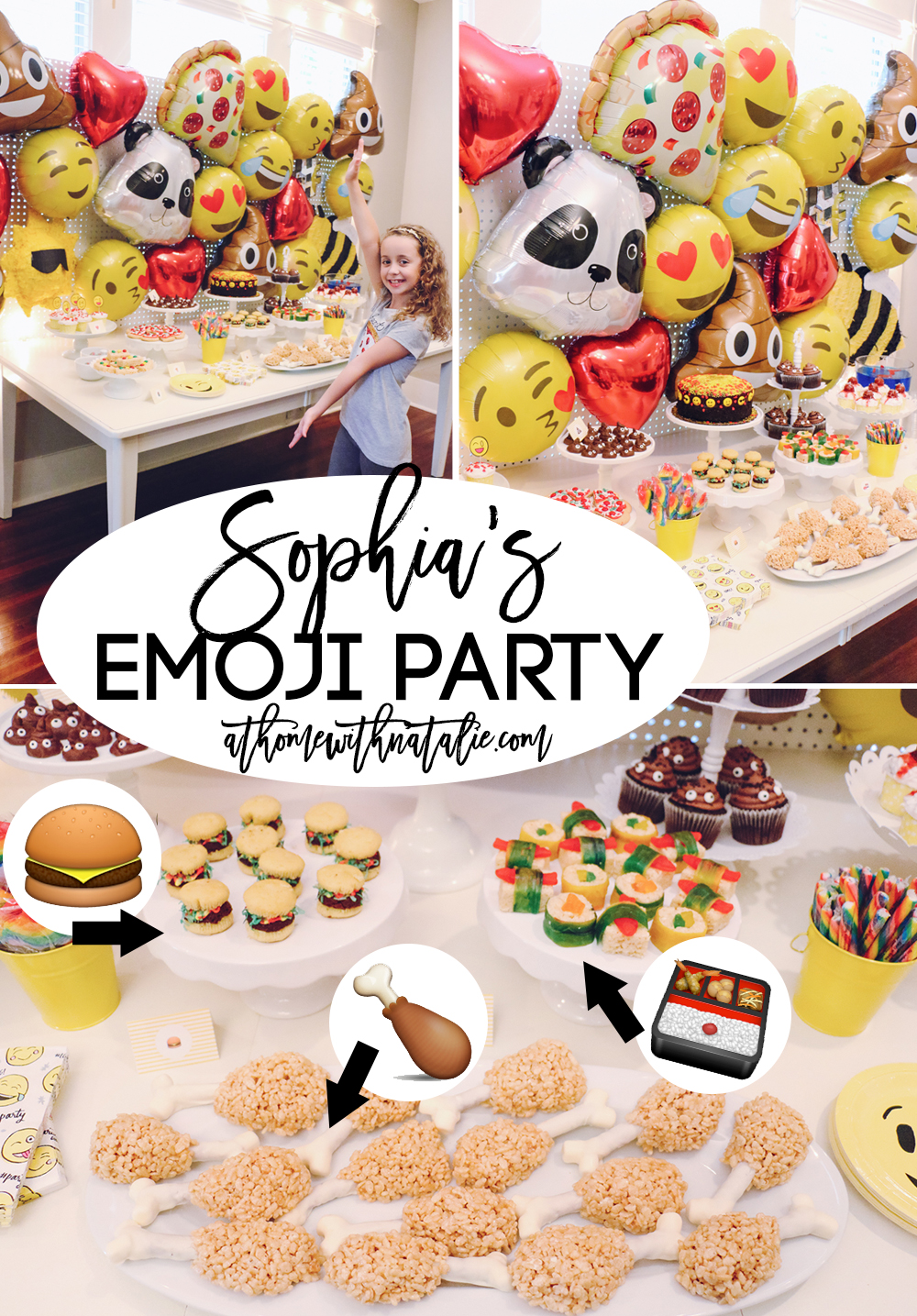 Emoji Birthday Party AtHomeWithNatalie