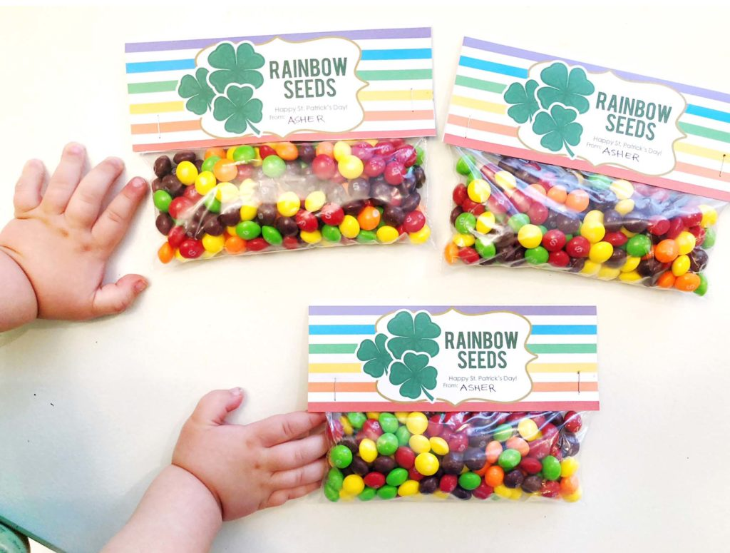 Rainbow Seeds Printable – St. Patrick's Day Treat