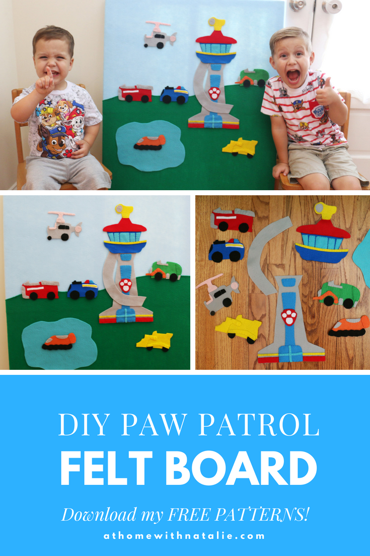 DIY Paw Patrol Felt Board – Free Patterns