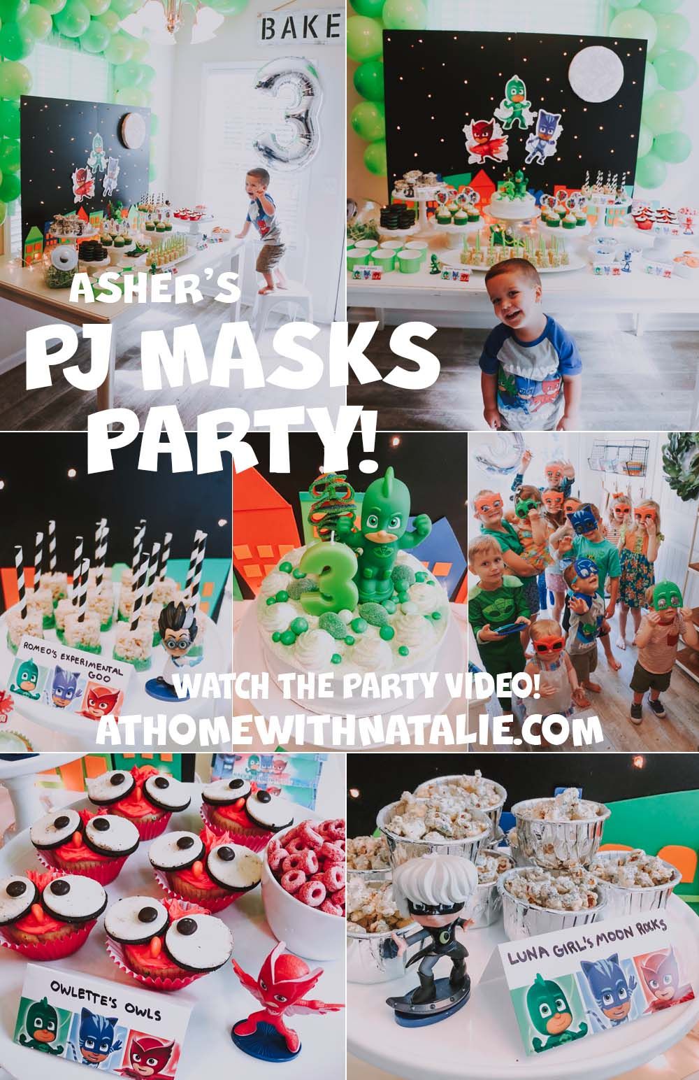Asher's PJ Masks Birthday Party – Video, Photos and DIY Details!