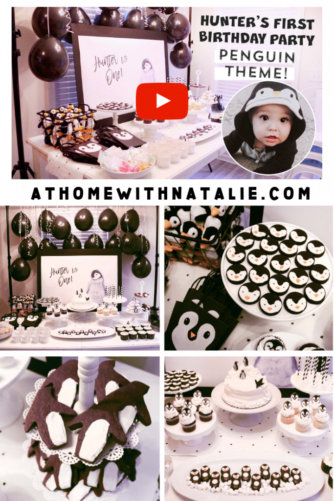Hunter's First Birthday Party – Penguin Theme!