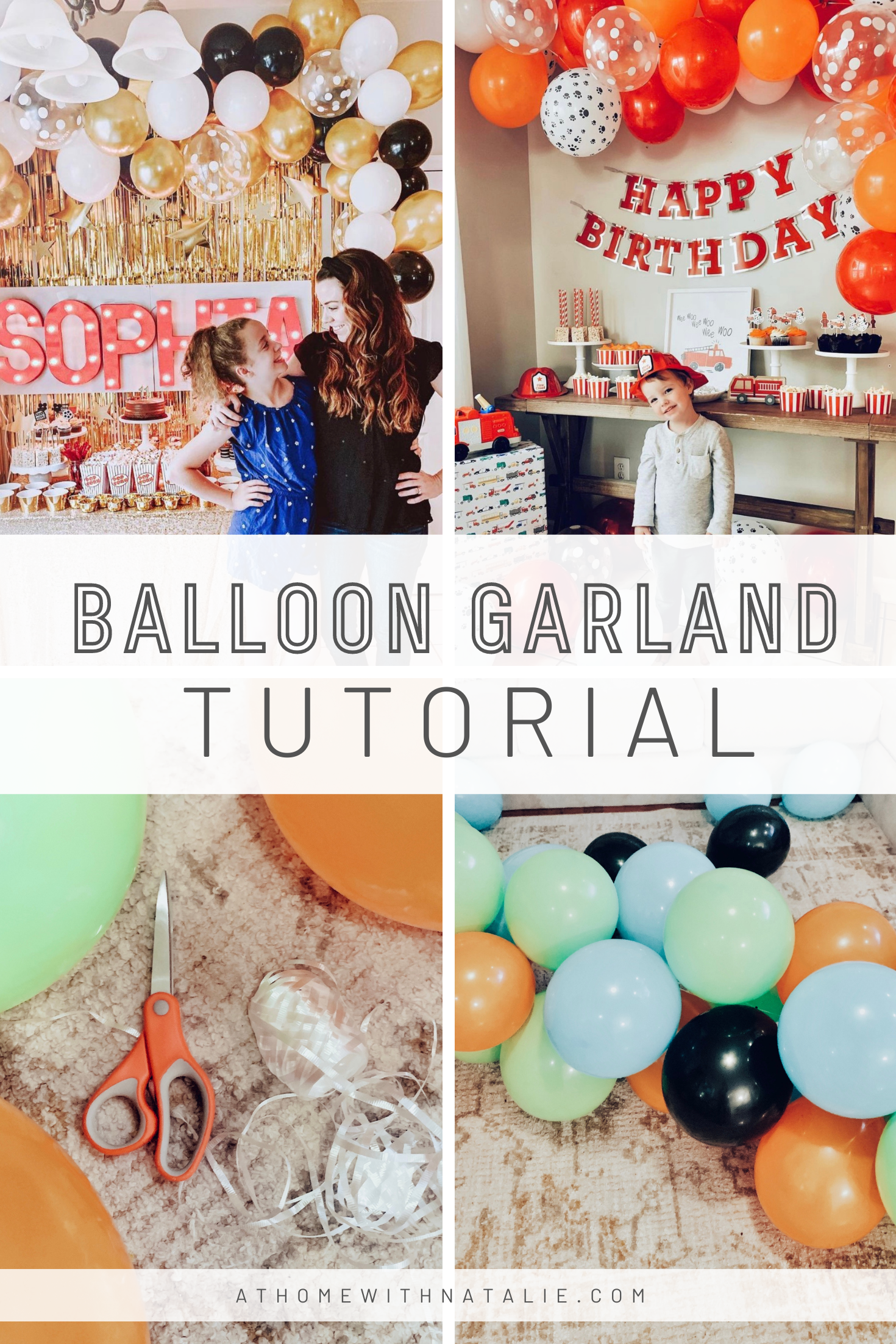 Easy Balloon Garland Tutorial At Home With Natalie